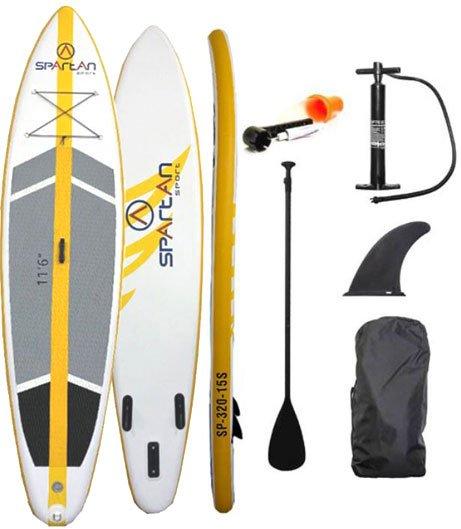 Paddleboard Spartan Sup 320-15 šedo-žlutá