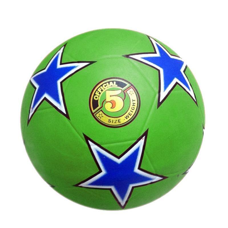 Fotbalový míč kopaná RUBBER STAR - 5 zelená