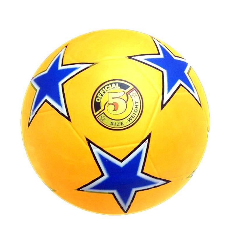 Fotbalový míč kopaná RUBBER STAR - 5 žlutá