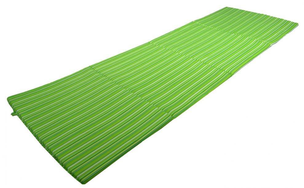 Čtyřdílné skládací plážové lehátko Sedco STRIPES zelená