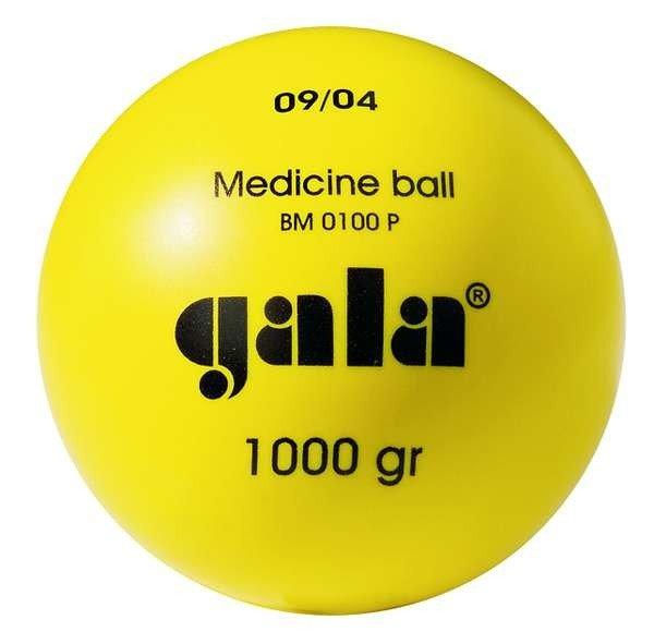 Míč medicinbal Gala plastový 1 kg žlutý