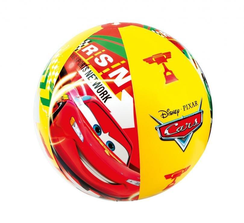 Nafukovací plážový míč barevný Intex 58053 CARS