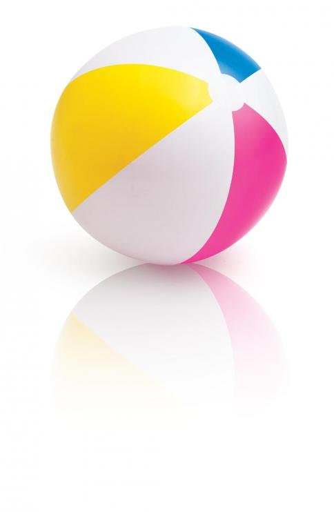 Nafukovací plážový míč barevný 61cm INTEX 59030