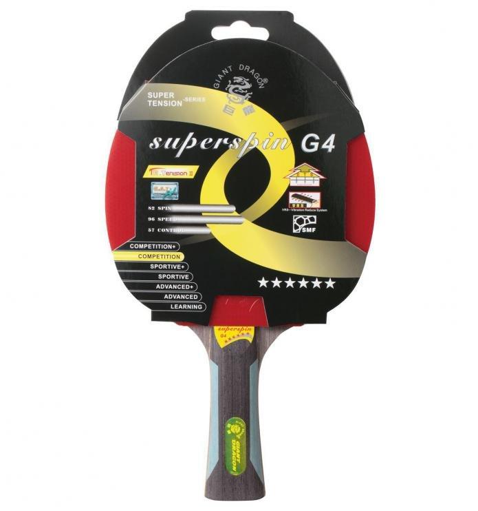 Pálka na stolní tenis ITTF SUPERSPIN 6