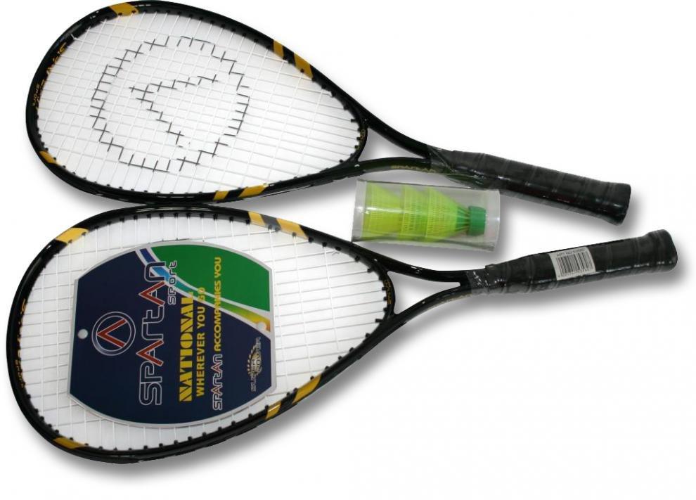 Speedminton SET 53580 SPARTAN barva černo/žlutá