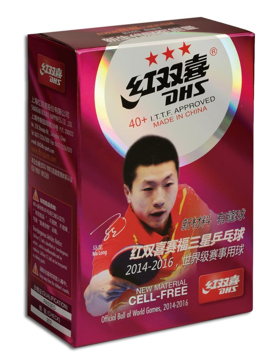Míčky DHS*** stolní tenis CELL FREE DUAL ***40mm balení 6 ks