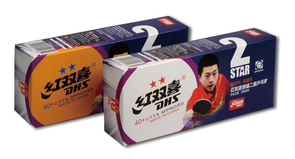 Míčky DHS** stolní tenis 40mm CELL FREE balení 10 ks
