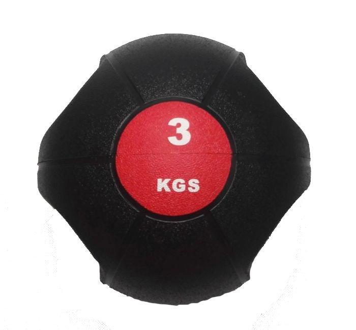 Míč medicinbal dual grip SEDCO barva černo/červený váha 3 kg