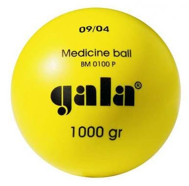 Míč medicinální 3 kg plast Gala žlutý