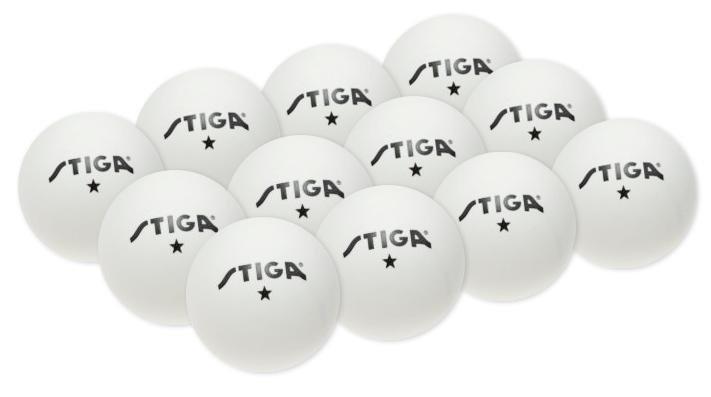 Míčky na stolní tenis 1* TRAINING bílé plast 12ks