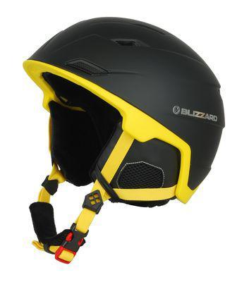 Lyžařská přilba Blizzard Double ski 60-62 Black Matt/Neon Yellow