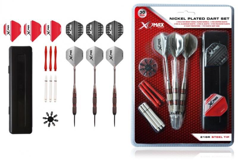 Sada XQMax SET šipky 21g Steel + příslušenství