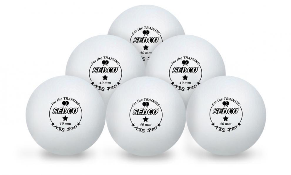 Míčky na stolní tenis SEDCO for TRAINING 1* CELL FREE 6ks