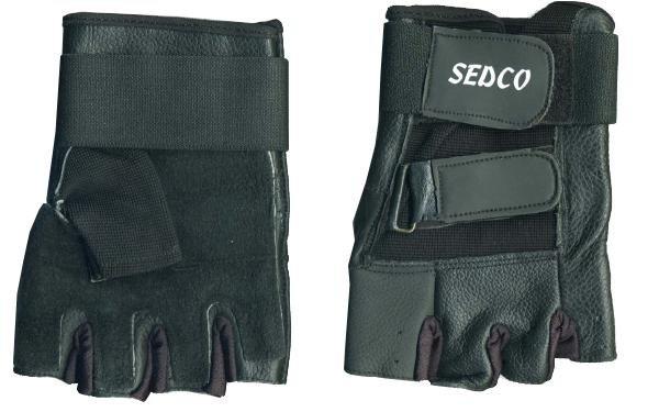 Rukavice fitnes SEDCO kůže