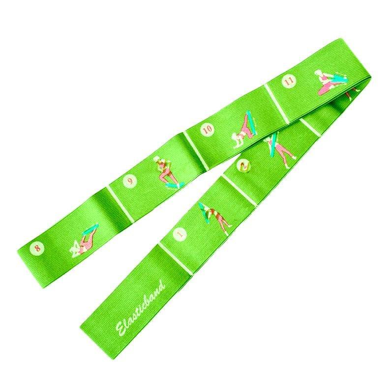Aerobic guma ELASTIC BAND 1800- zelená