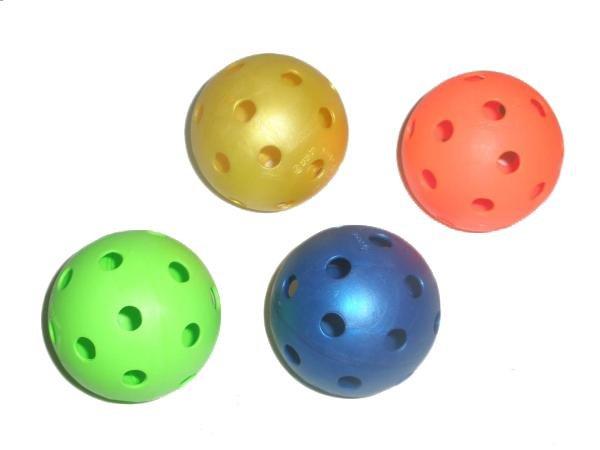 Florbalový míček UNIHOC barevný-modrá