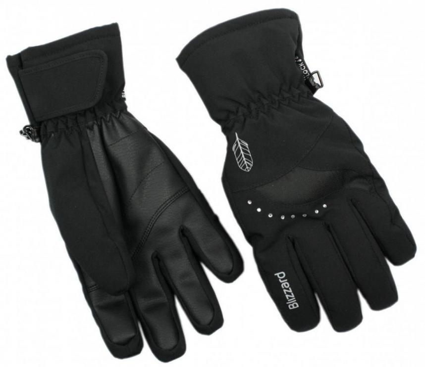 Lyžařské rukavice BLIZZARD VIVA DAVOS, BLACK