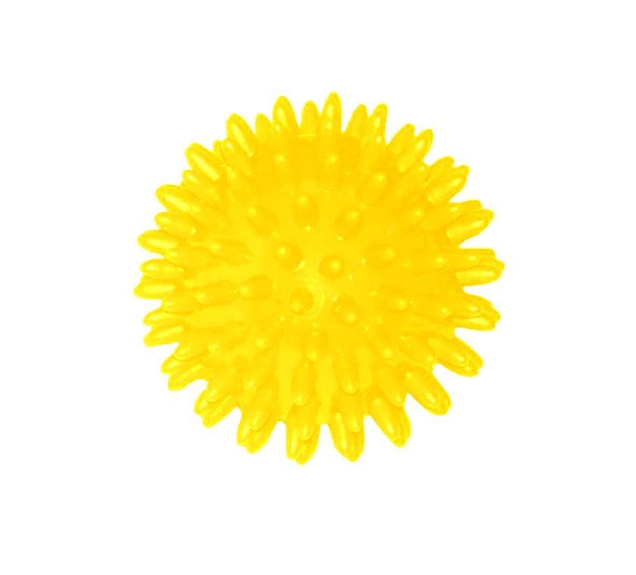 Míček masážní 70 mm žlutá