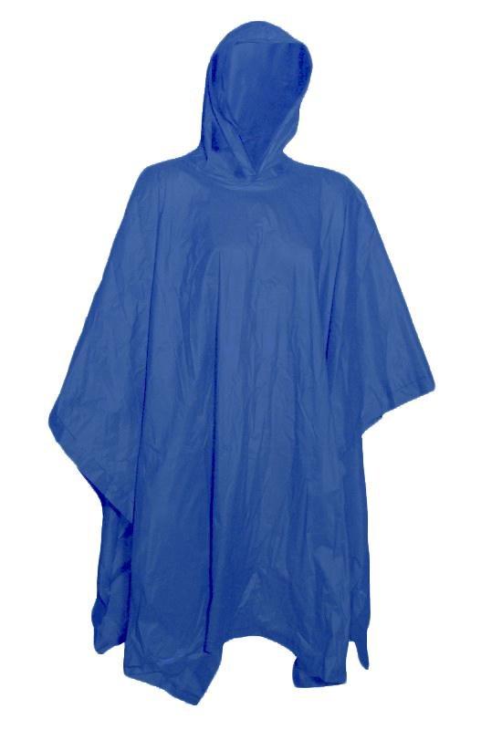 Pláštěnka PONČO EXTRA SILNÉ PVC 0078-modrá