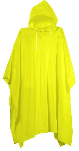 Pláštěnka PONCHO PVC silná-žlutá