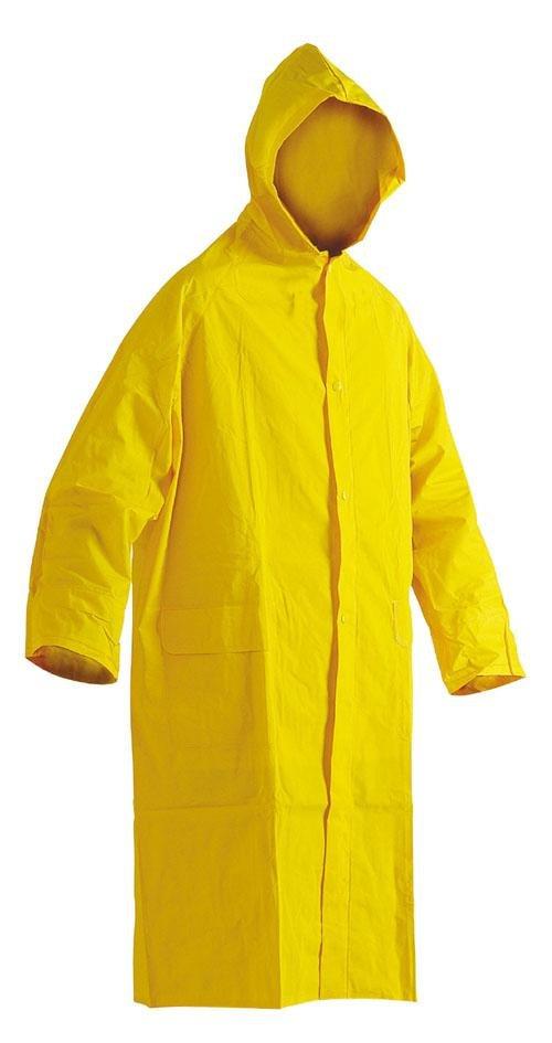Pláštěnka PVC silná-žlutá