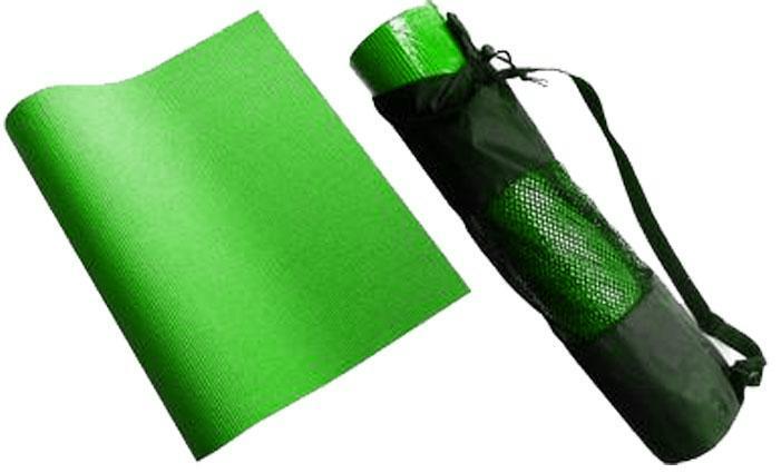 Karimatka na cvičení YOGA+obal SEDCO 4 mm 172x60x0,4cm zelená