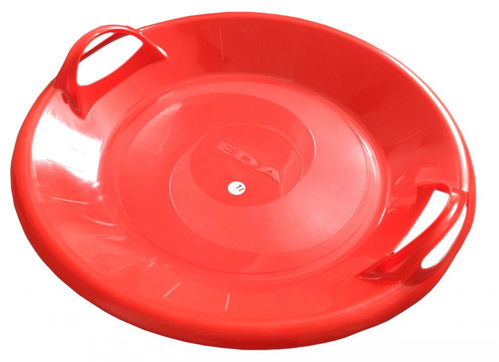 Sáňkovací talíř disk SUPER STAR- červená