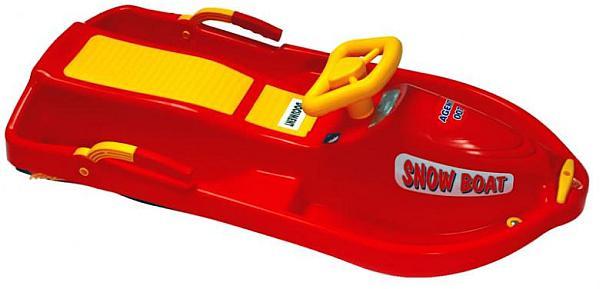 Boby řiditelné Snow Boat PLASTKON 93 x 44 x 35 cm- barva červená