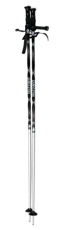 Sjezdové hole Blizzard 110 cm šedo/bílé