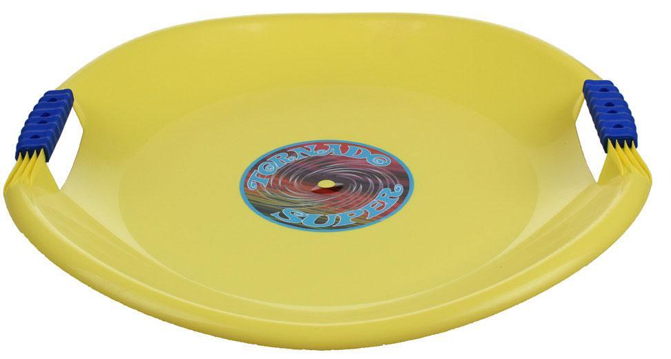 Sáňkovací talíř TORNÁDO SUPER PLASTKON 56 cm-žlutá