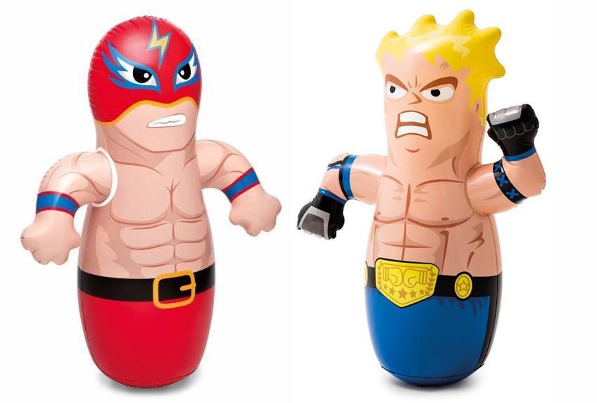 3D Bop bags - Boxovací panák Intex 44672-červená