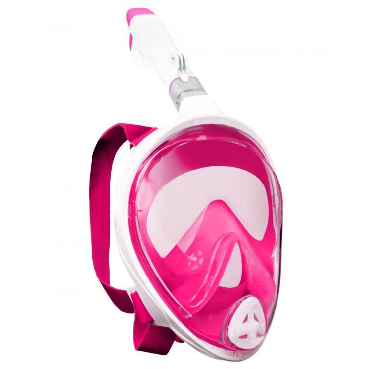 Potápěcí celoobličejová maska/brýle se šnorchlem FREEBREATH+ GoProAD-růžová