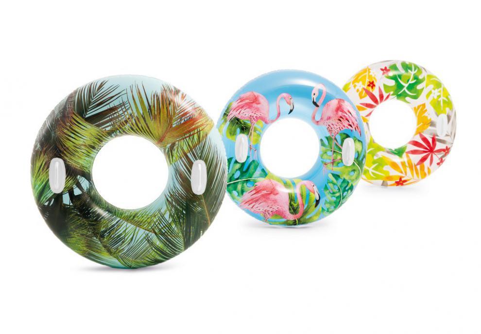 Kruh plavecký S DRŽADLY Intex 58263 bílá