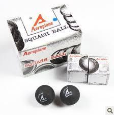 Míček squash AEROPLANE-2žluté tečky