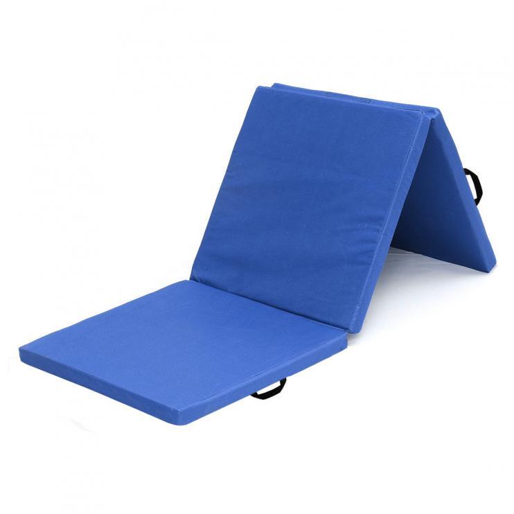 Žíněnka skládací třídílná SEDCO 183x60x4 cm-modrá