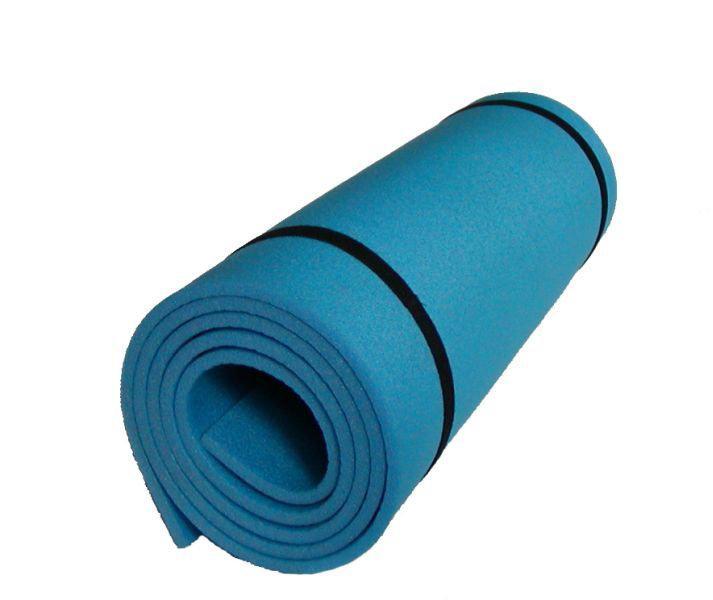 Karimatka jednovrstvá z materiálu EVA 8mm-modrá