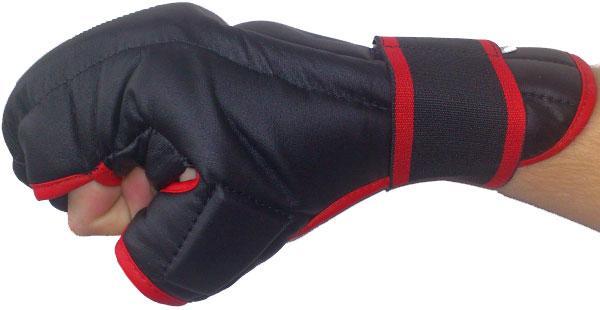 Rukavice Kung-fu PU597 EFFEA velikost S červeno/černé