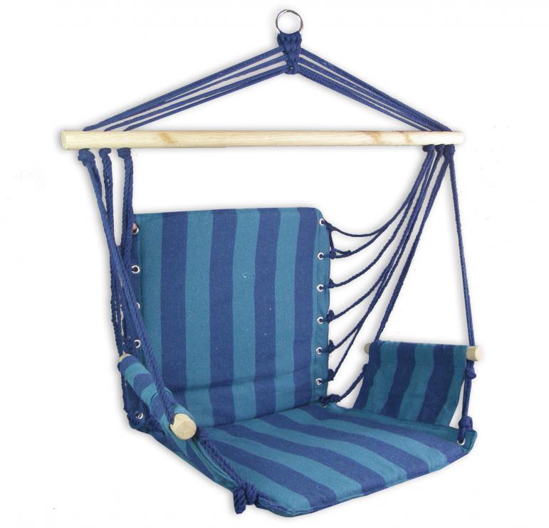 Houpací křeslo Sedco Bavlna RELAX 103x56 cm tmavě modrá