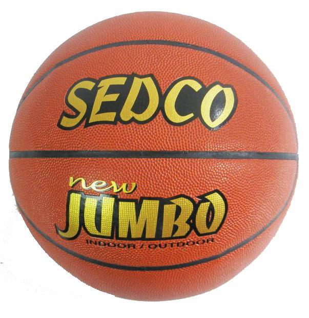 Míč basket Sedco kůže OFFICIAL 6 NEW JUMBO AKCE DOPRODEJ