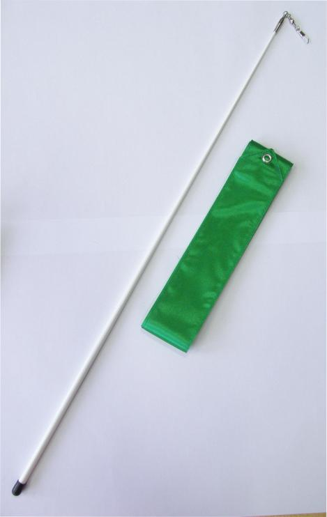 Gymnastická stuha OFFICIAL FANTASIA + tyčka zelená