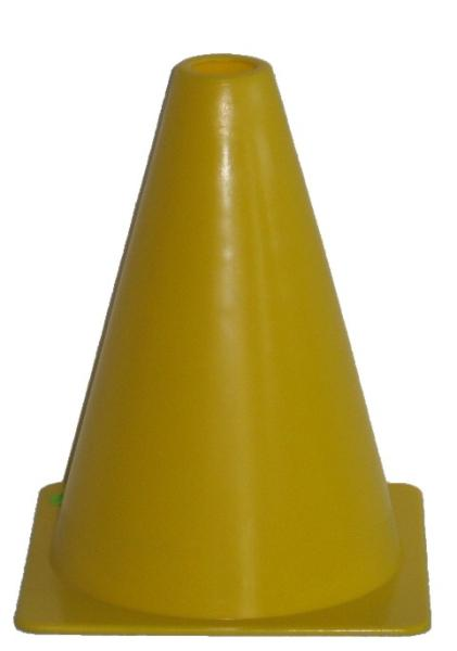 Kužely kopaná 18cm žlutá