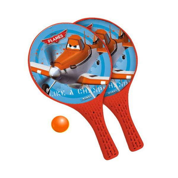 Plážový tenis LETADLA MONDO barva oranžová velikost rakety 37x22,5cm
