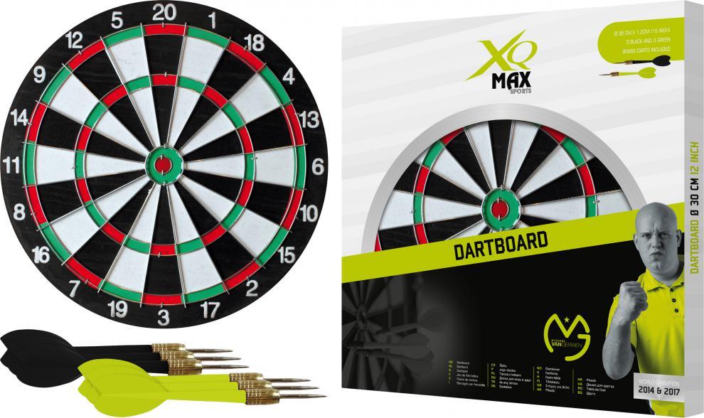 Šipky s terčem XQ-MAX MVG Dartboard 30 cm - SET