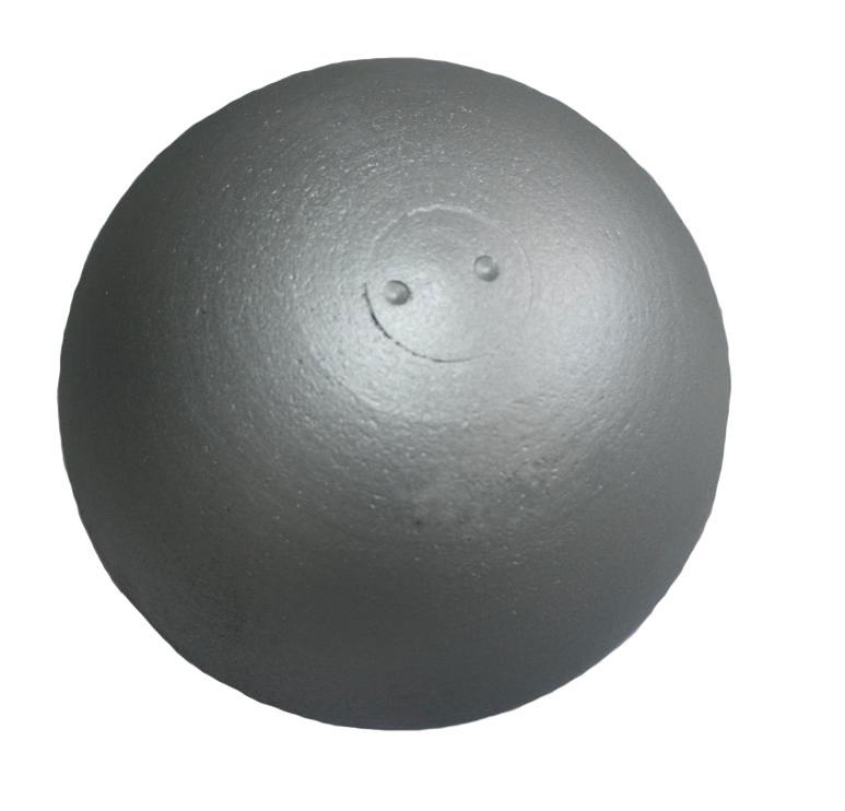 Koule atletická ZÁVODNÍ 6 kg SEDCO soustružená stříbrná