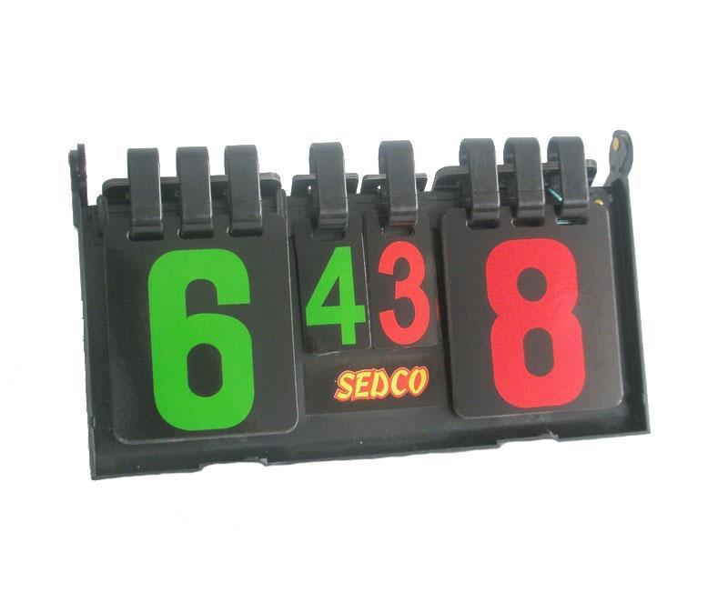 Ukazatel skóre volejbal plastový Sedco 37 x 20 cm černý