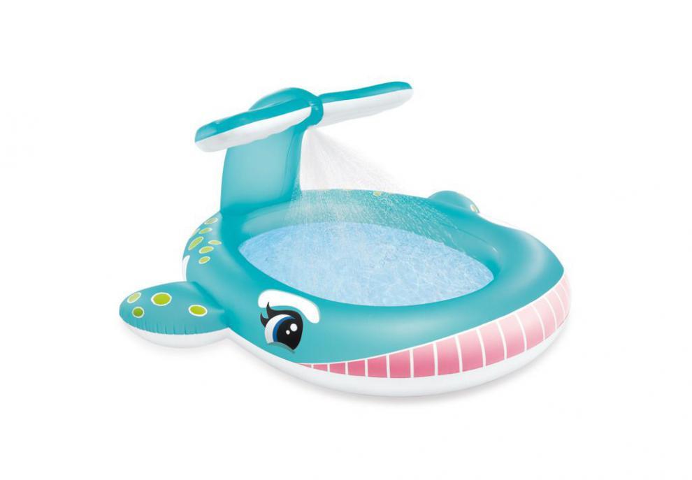 Dětský bazén Intex 57440 Velryba 201x196x91 cm