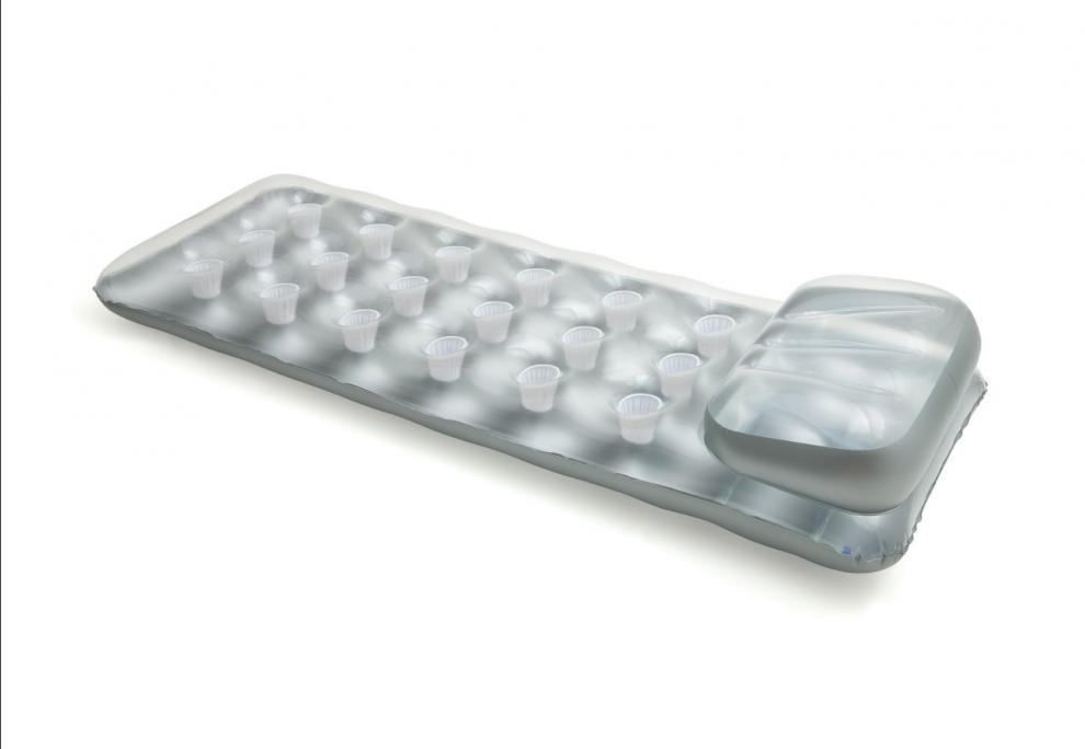 Nafukovací lehátko matrace INTEX 58894 stříbrné 188 x 71 cm