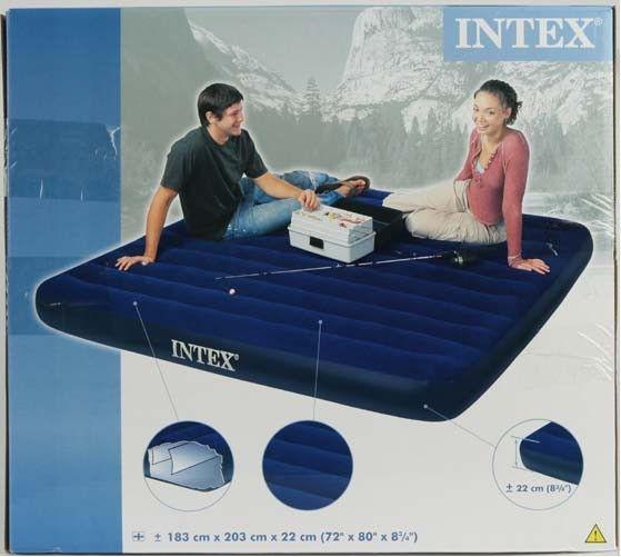 Nafukovací postel King Classic Downy Intex 68755 203x183x22cm