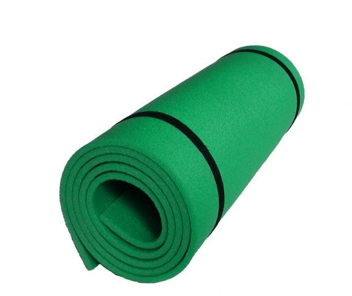 Karimatka jednovrstvá z materiálu EVA 8mm-zelená