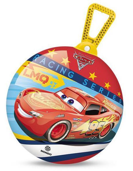 Skákací balón Mondo s držadlem 360 průměr 45 cm Cars
